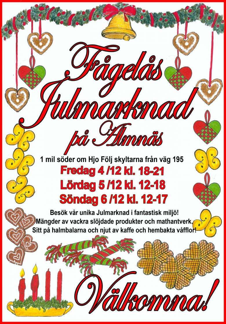 Fågelås Julmarknadsaffisch 2015 Annons