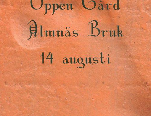 Öppen Gård 14 augusti 2019